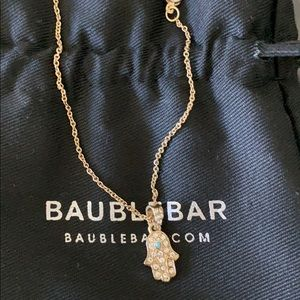 Bauble Bar Gold Plated Hamsa Necklace